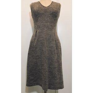 Banana Republic Wool Houndstooth Sheath Dress Sz 2